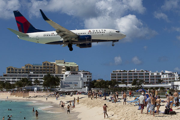St. Marteen, Maho Bay Beach
