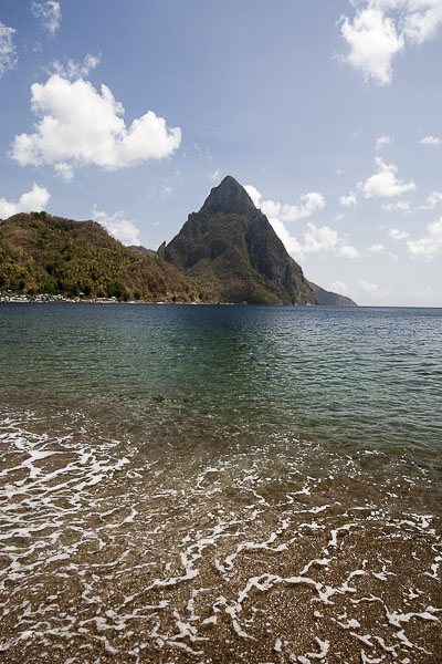 Saint Lucia, Soufri�re Bay e Pitons