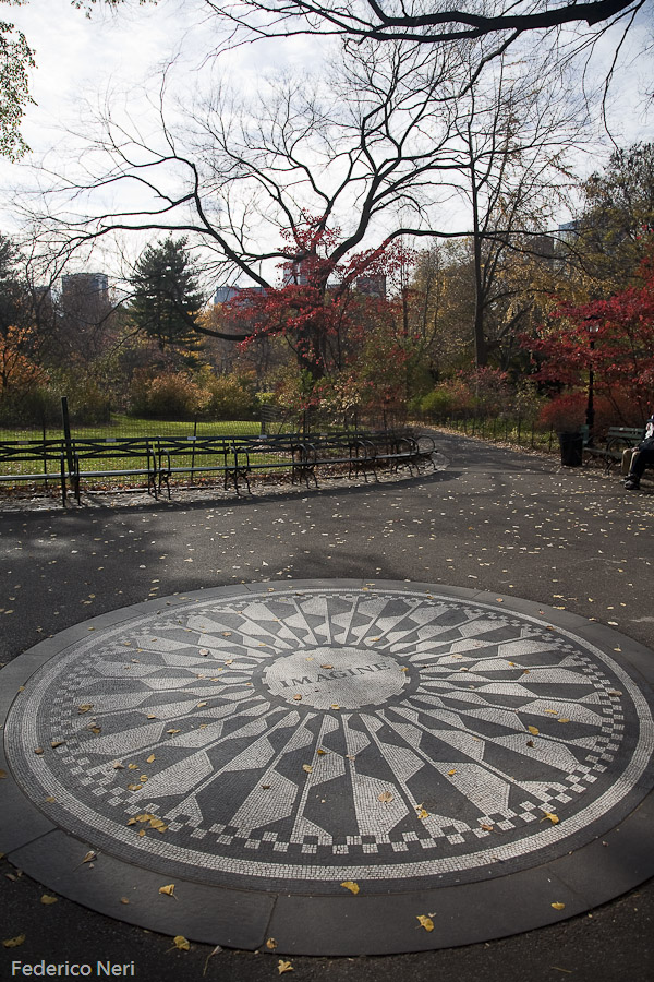 Strawberry Fields, John Lennon memorial,  Central Park